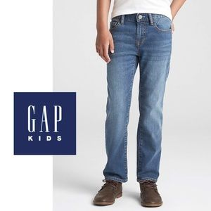 Gap Kids Boys Straight Fit Med. Wash Jeans, 12